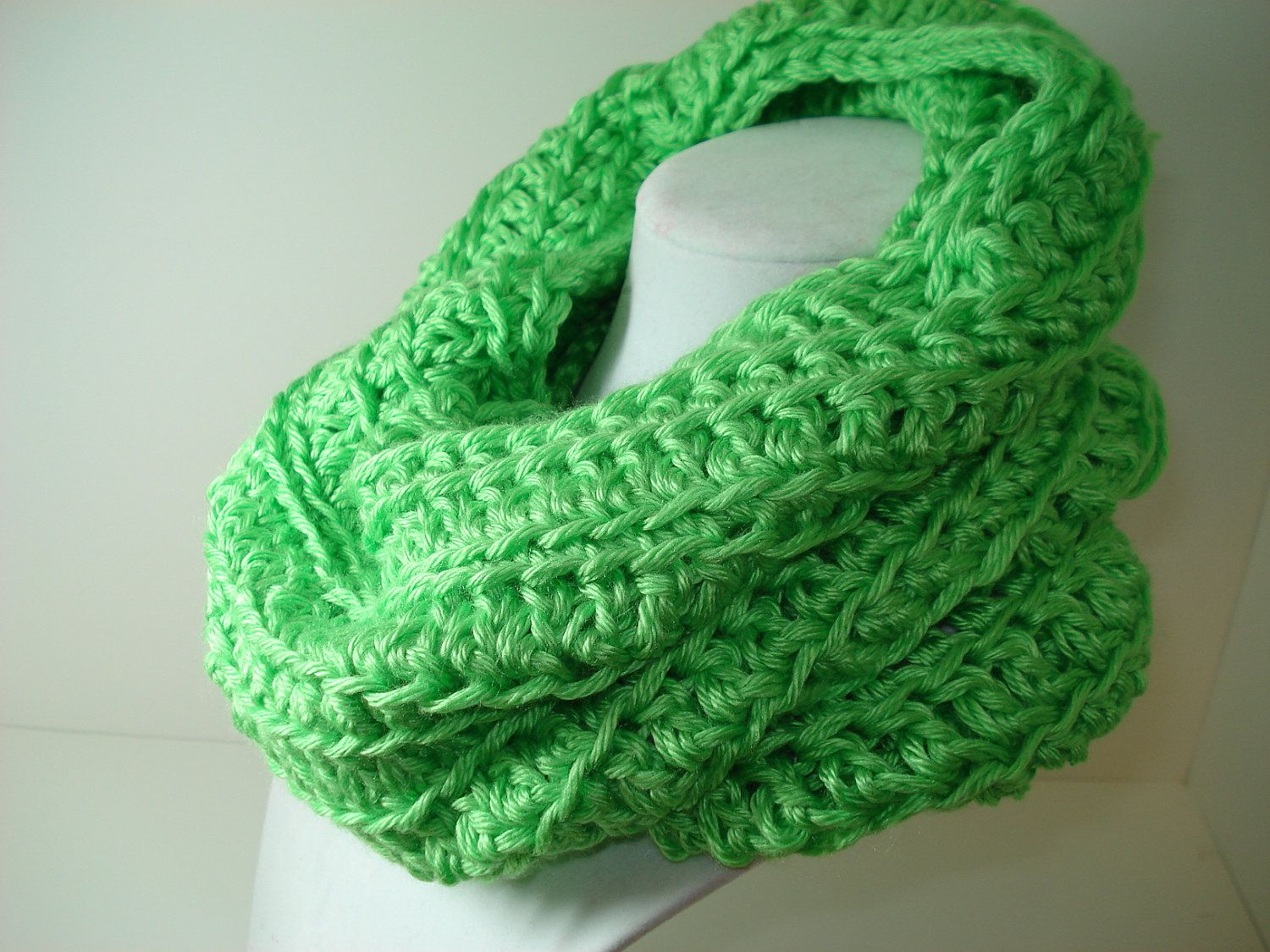 Lime Green Cowl Neckwarmer by tonebelle on Etsy, $13.00