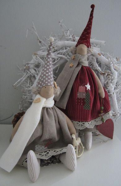 weihnachts wichtel im landhausstil von feinerlei auf. Black Bedroom Furniture Sets. Home Design Ideas
