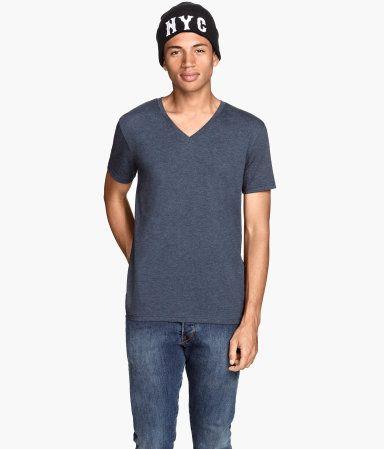 H&M T-shirt med V-udskæring 49.95