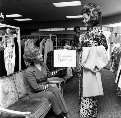 Women fashion shopping at Haber's department store , Fort Lauderdale, Florida, 1972.