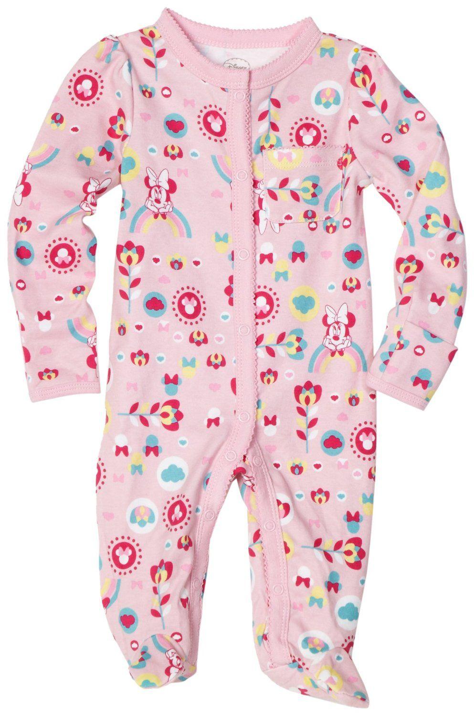 Disney Baby Girls Newborn Footed Sleep and Play