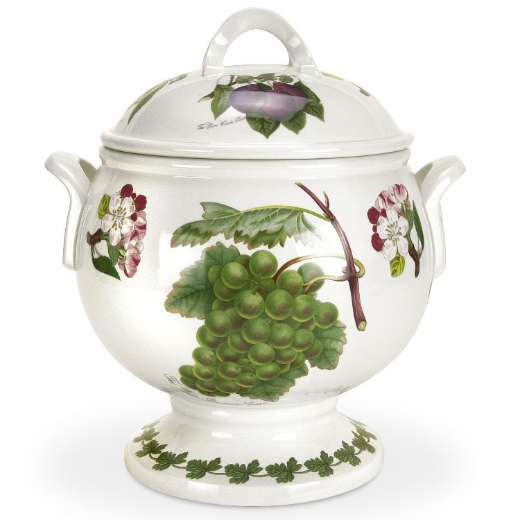 The Pomona Soup Tureen and Ladle qty. is part of the Classics Dinnerware collection by Pomona.Pomona is one of Portmeirion\u0027s most popular dinnerware .  sc 1 st  Pinterest & Portmeirion Pomona Tureen and Ladle Fruit and Flowers | Soup Tureens ...