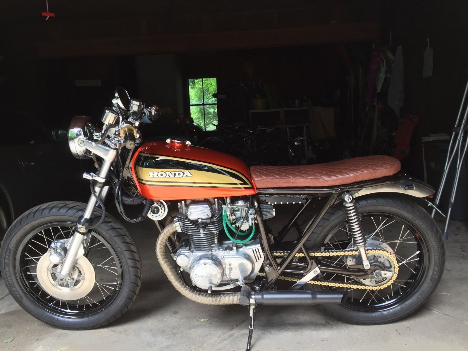Rockerco For Sale 1974 Honda CB360 Cafe Brat Forsale Caferacer
