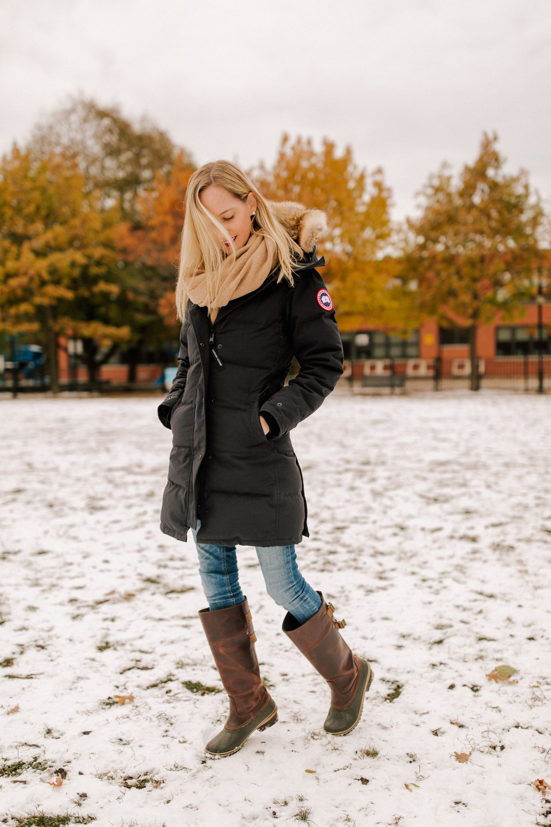 e3cce6dfb5f Canada Goose Shelburne Review - Kelly in the City Preppy Style Winter,  Preppy Winter Outfits
