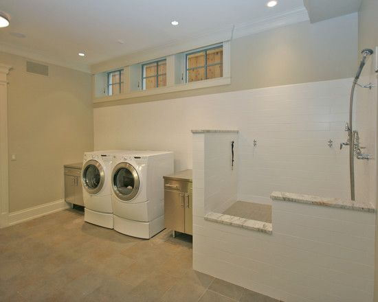 Old Irving Park Single Family Home   Chicago   Laundry Room With Raised Pet  Shower   Tandem Architecture U0026 Construction