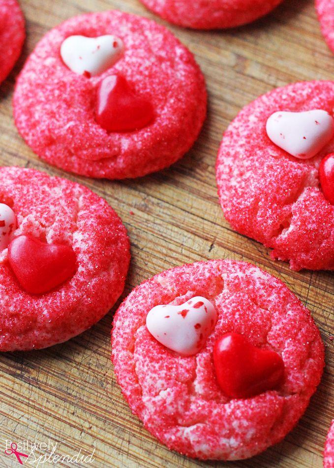Cake Mix Valentine Cookies Recipe Cookies Pinterest Cookies
