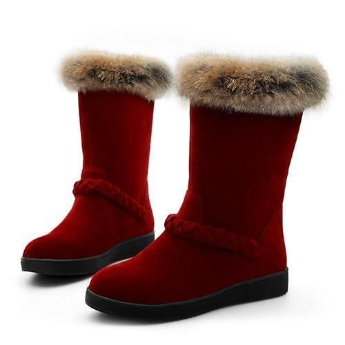 c09bf93843ba Snow Lover Fur Winter Boots in 2019