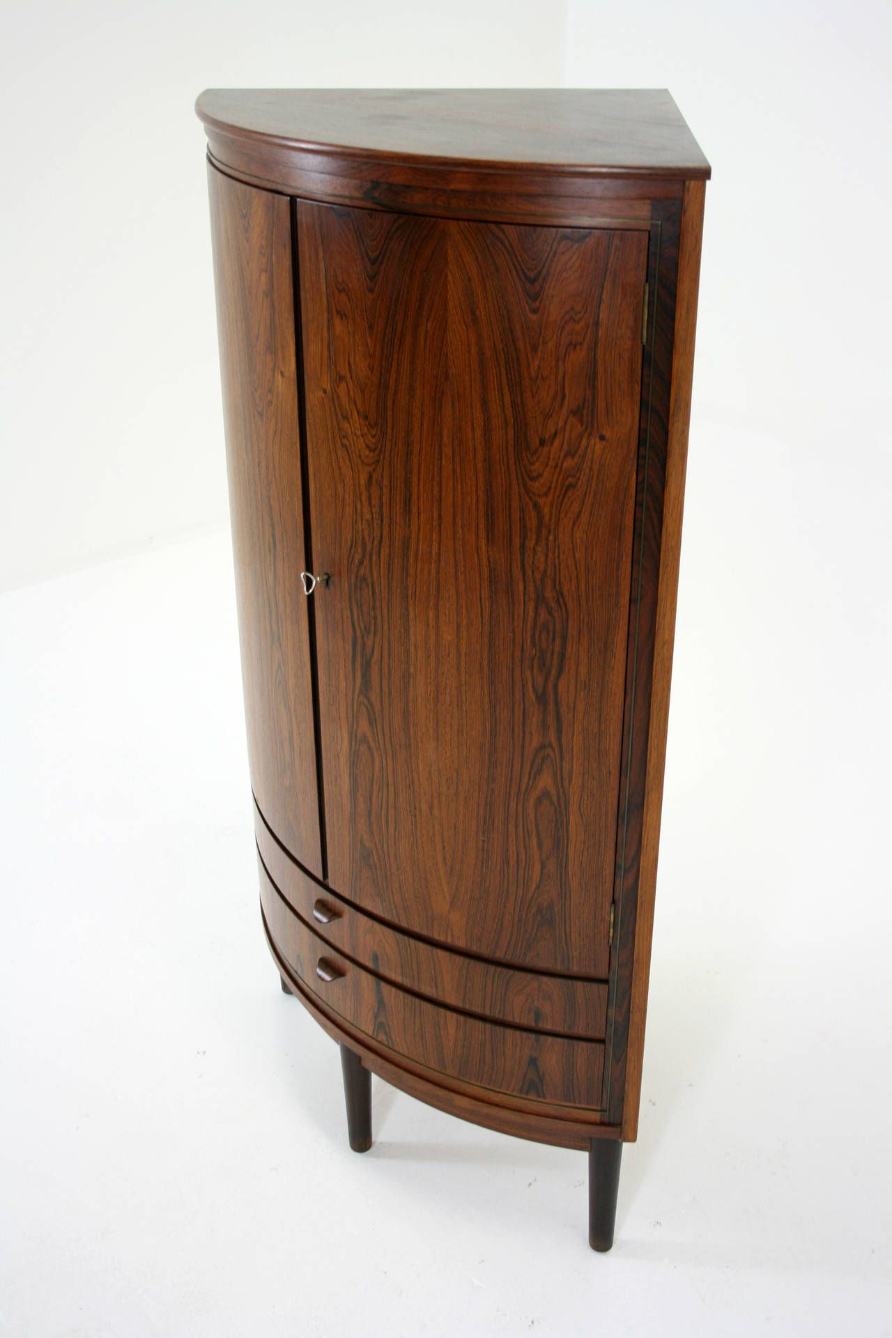 view this item and discover similar corner cupboards for sale at  danishrosewood curved front with two small drawers fixed shelves in excellent. modern corner bar cabinet  google search  tiki lifemid cent mod