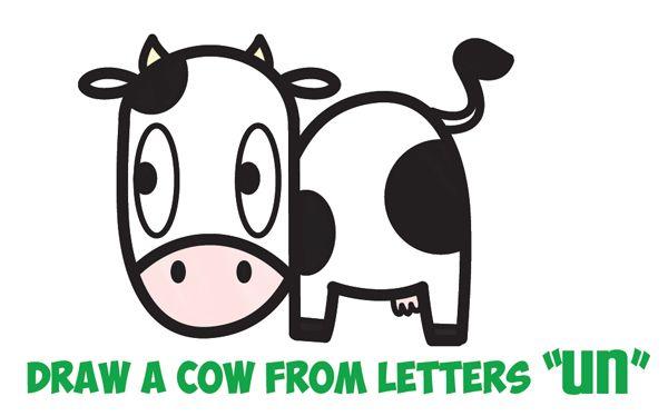 How to Draw a Cute Cartoon Kawaii Cow Easy Step by Step ...