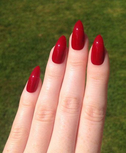 Long red fingernail fetish pity