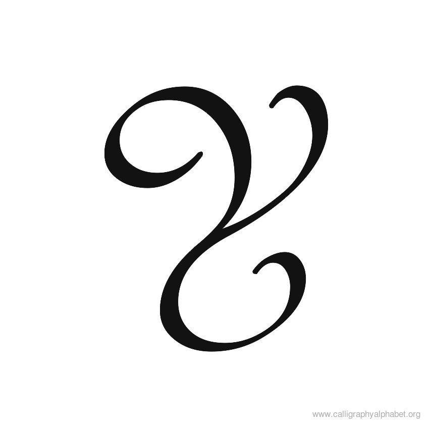 Uppercase calligraphy alphabet y g