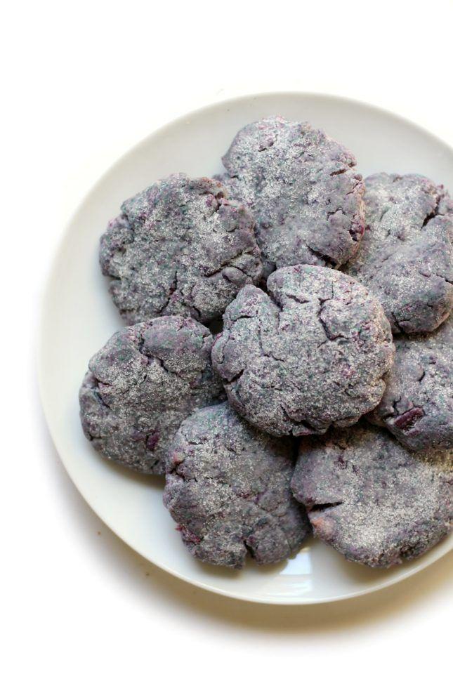 Bake up a dozen Purple Sweet Potato Sugar Cookies using this easy dessert recipe.