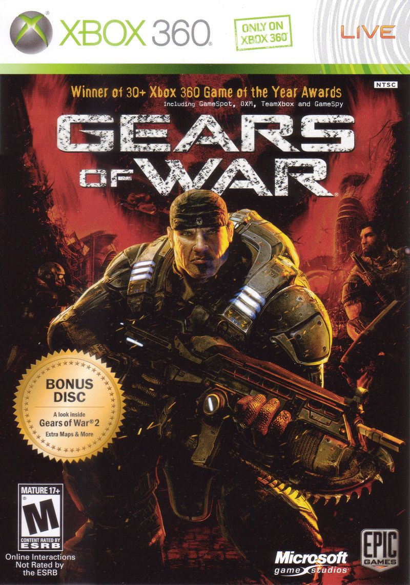Gears Of War 2 Disc Edition 2008 Xbox 360 Box Cover Art