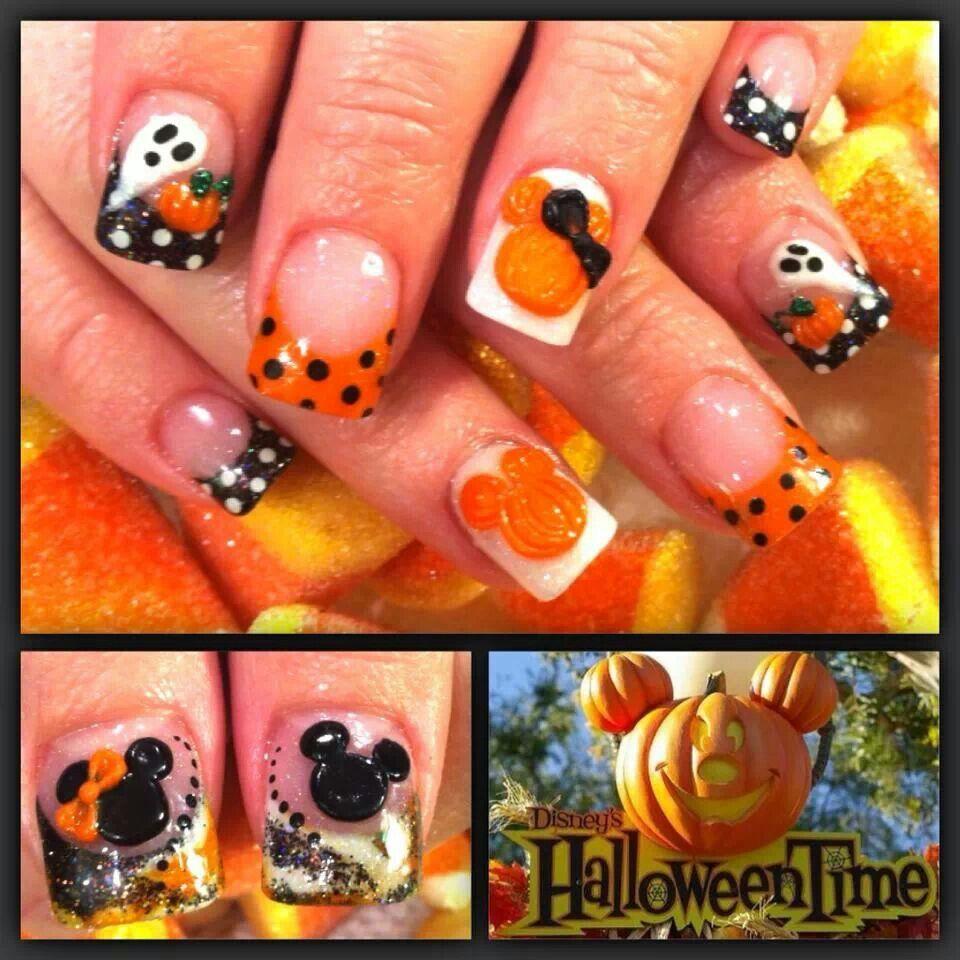 Disney Halloween nails | Disney halloween nails, Halloween ...