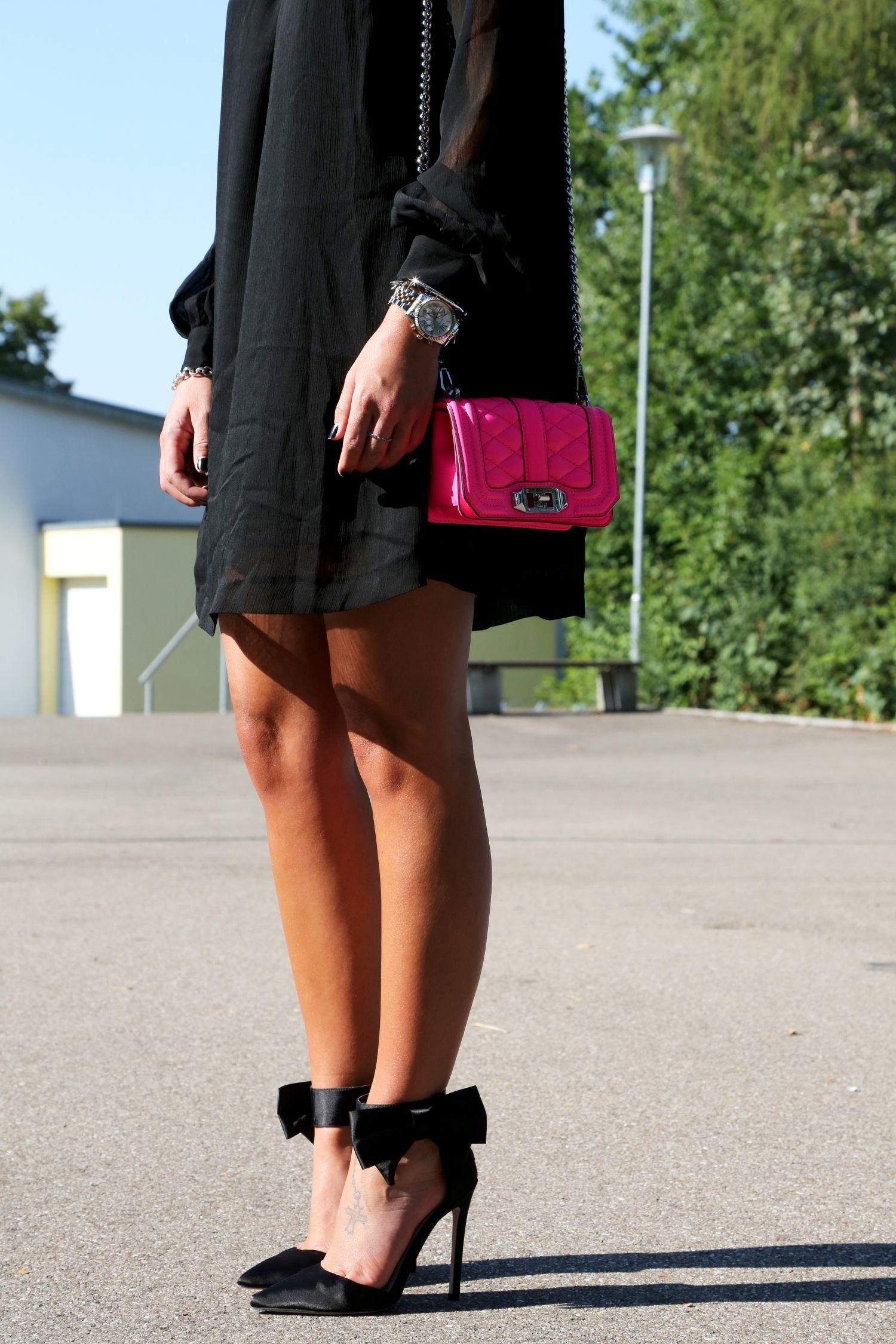 Little Black Dress Fashionhippieloves Little Black Dress Black Dress Neon Bag [ 2250 x 1500 Pixel ]