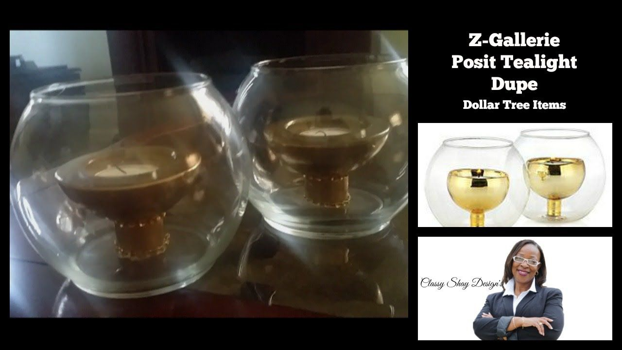 Diy zgallerie tealight candle holder dupe dollar tree items