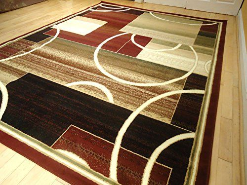 Contemporary Rug Multi Colored Area Rugs 8x11 Red 5x8 Living Room Carpet 8x10