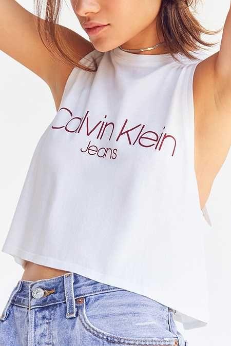 cb7d4b7ec0e4f7 Calvin Klein Racerback Tank Top