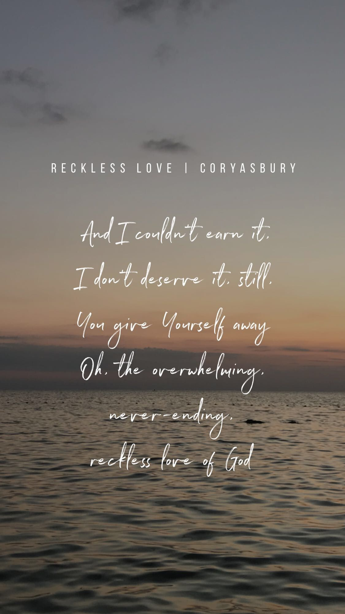 Reckless Love | Christian Song Lyrics | Christian song quotes