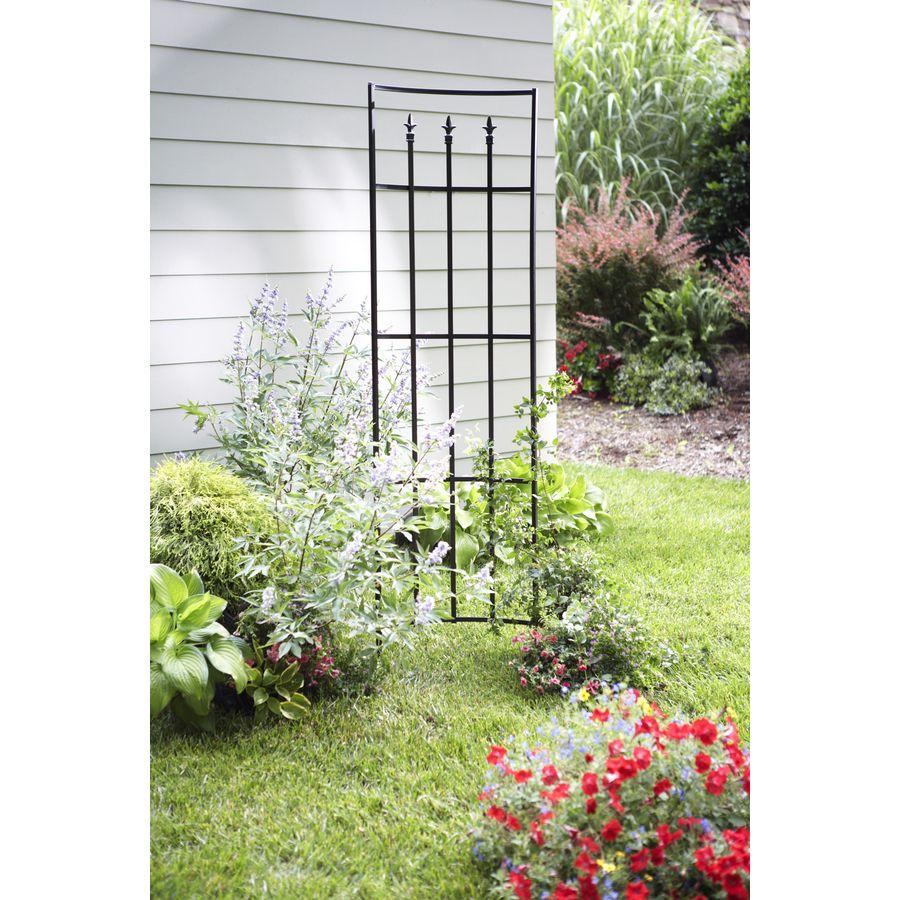 Shop Garden Treasures 22 In W X 80 In H Black Garden Trellis At