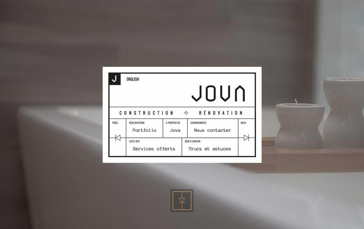 Jova simple website website design flat