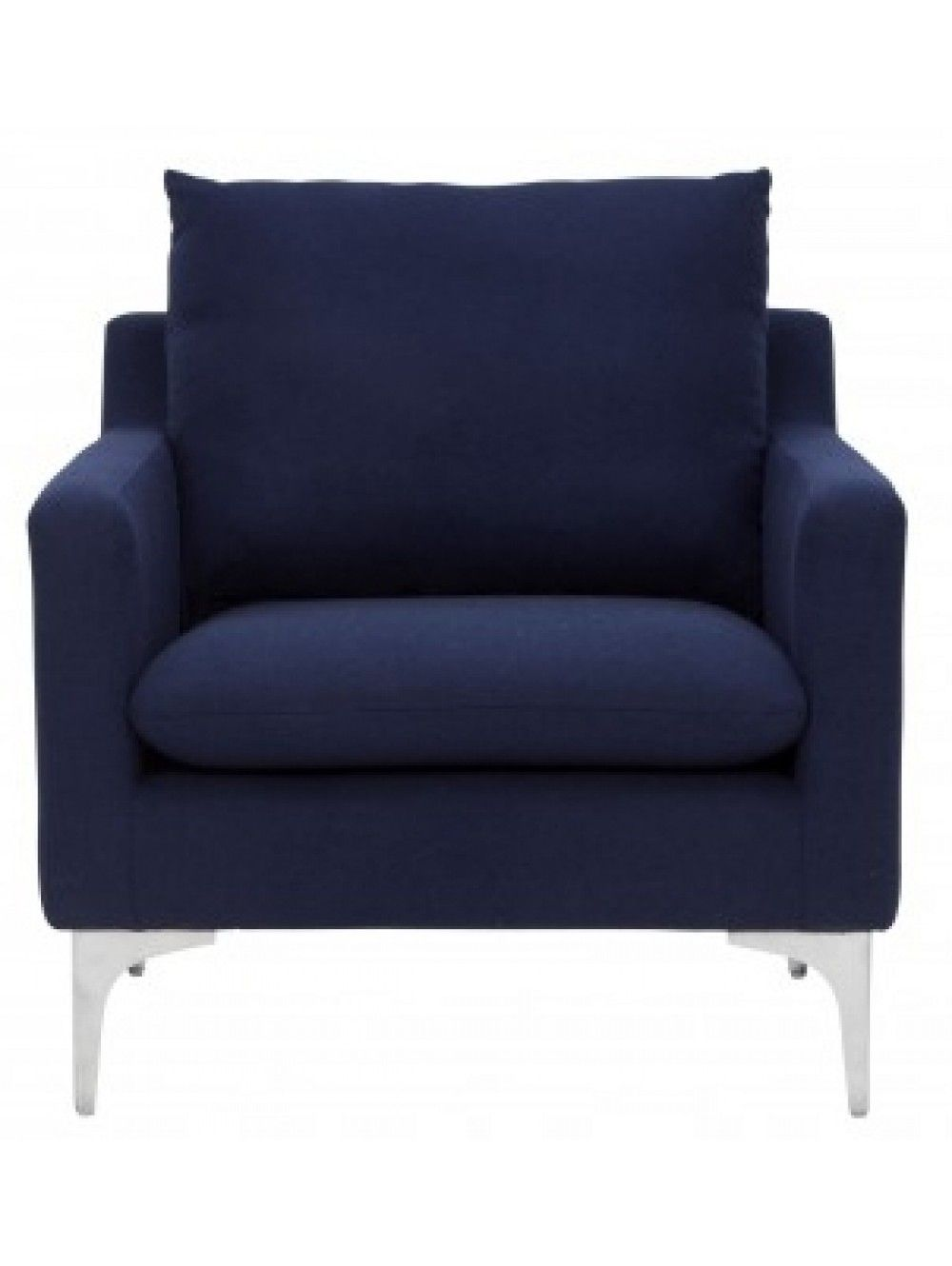 Lawrence Chair, Navy Blue Comfy leather chair, Chair