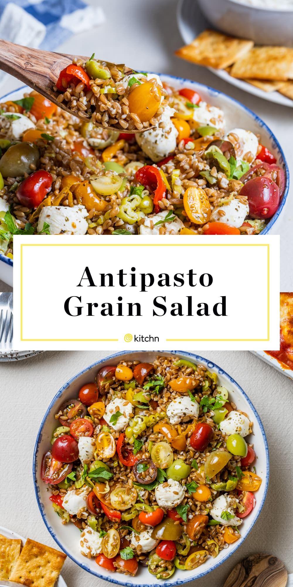 This No-Wilt Antipasto Grain Salad Is the Ultimate Potluck Win
