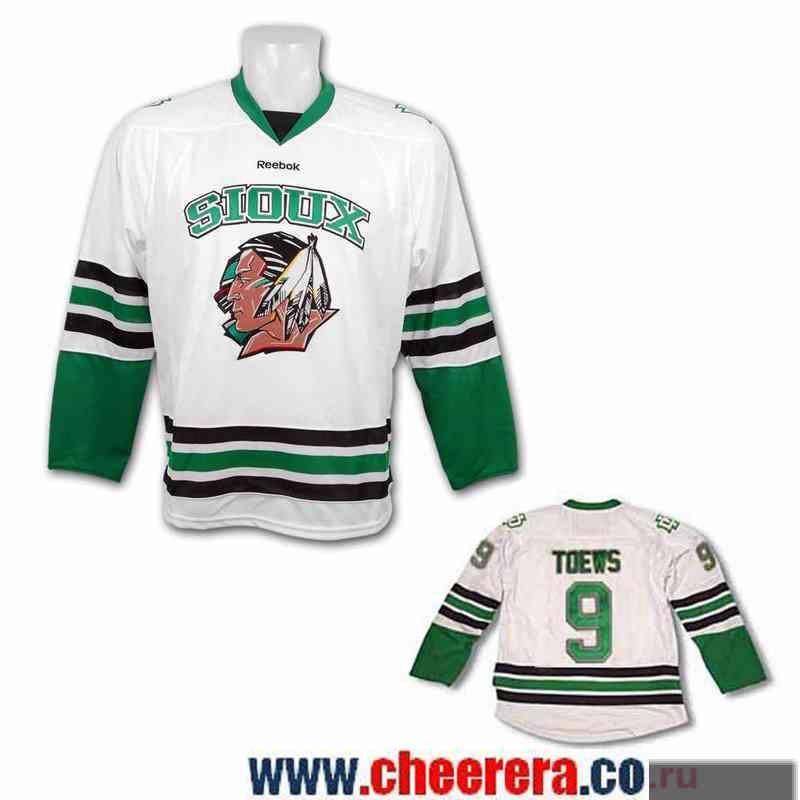 Men s North Dakota Fighting Sioux  9 Jonathan Toews White Stitched College  Ice Hockey Jersey 3317040b4