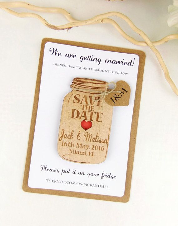 Custom Save The Date Magnet Set Wood By YourWeddingProject