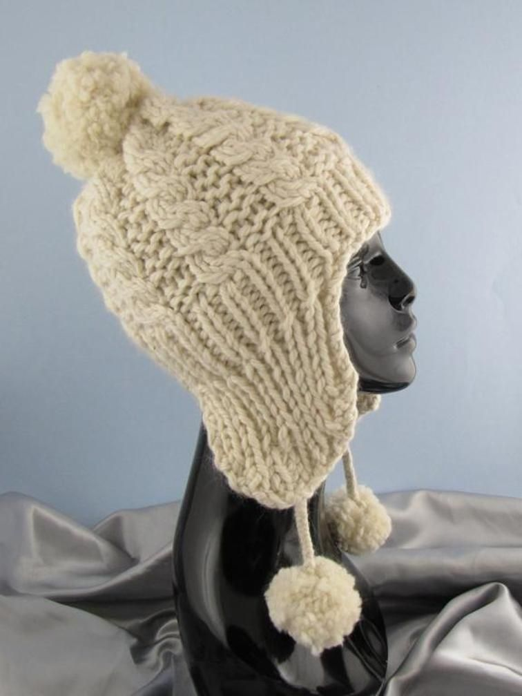 Big Bobble Superfast Cable Trapper Hat | Pinterest