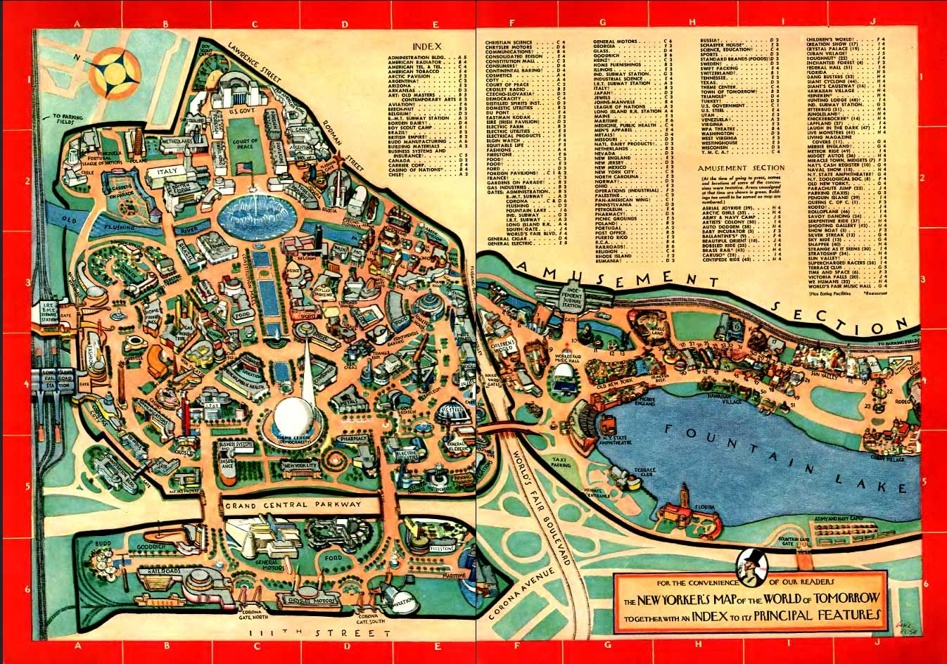NYC World's Fair 39 | World's fair, Map, World of tomorrow on world cotton centennial map, ny world fair pavilion map, world fair site map, seattle center map,
