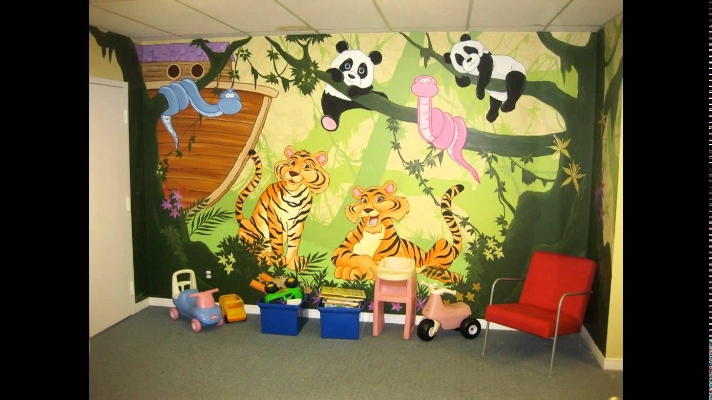 Services for Play school cartoon wall painting We do creativity ...