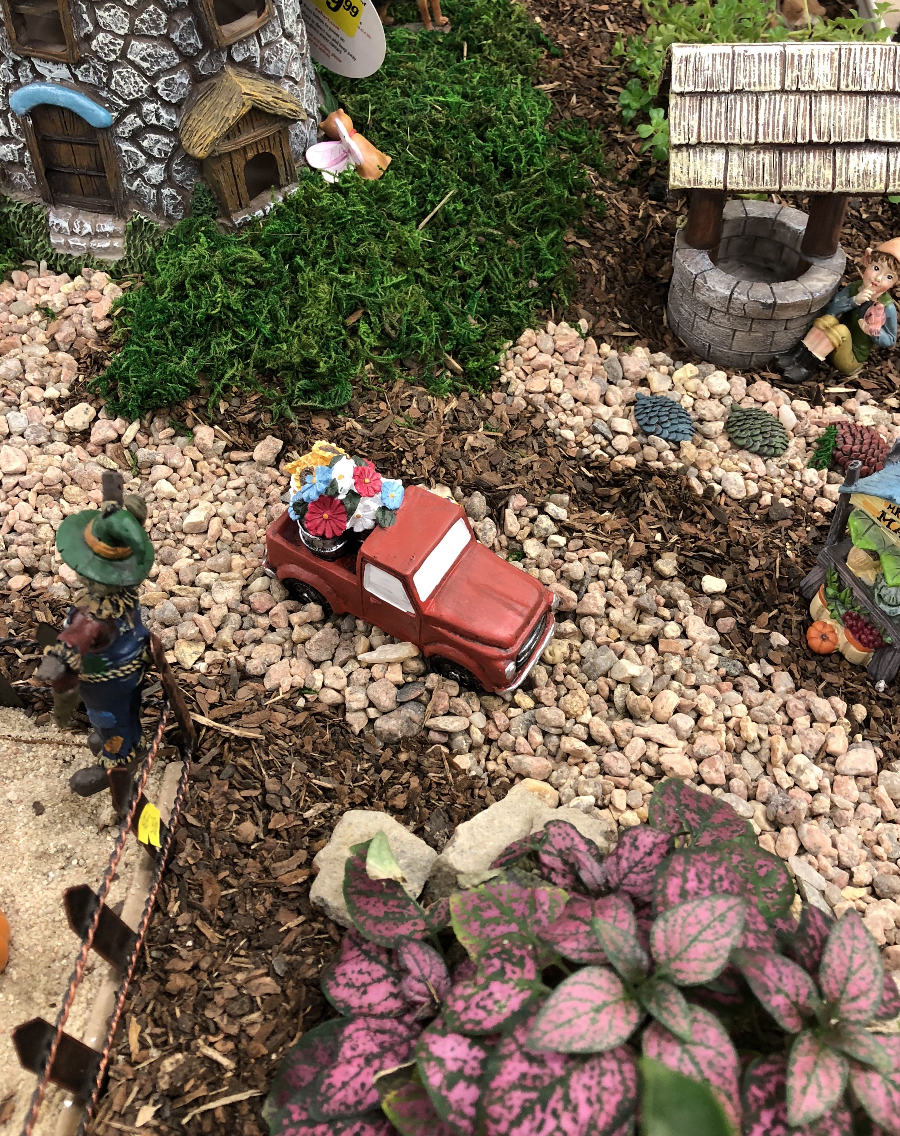 Little Red Truck In A Fairy Garden At O Tooles Garden Center Fairy Garden Garden Center Garden