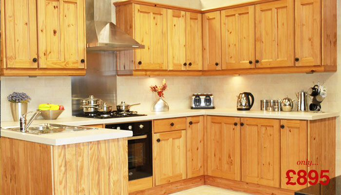 Painted Tile Pine Kitchen Cupboard Designs Solid Wood Cabinets Kitchens