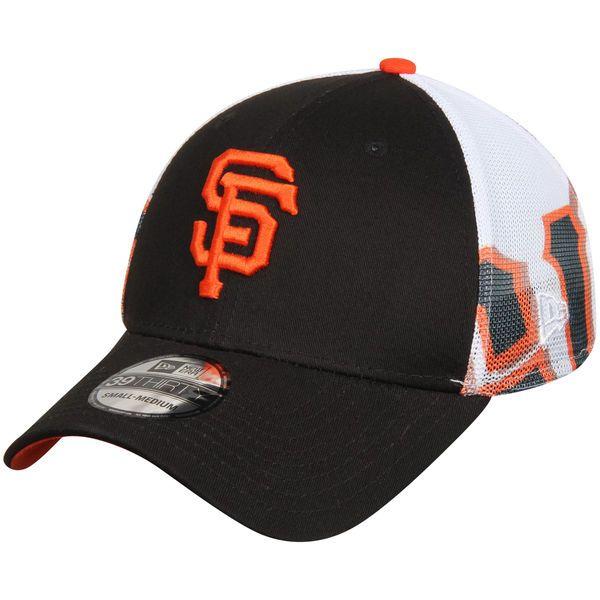26ed7f6025d Men s San Francisco Giants New Era Black Logo Wrapped 39THIRTY Flex ...
