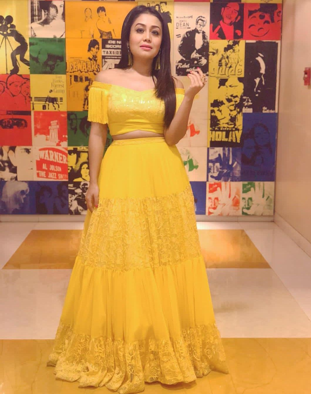 Neha Kakkar Fashion Neha Kakkar Dresses Designer Dresses Indian Lehnga Dress