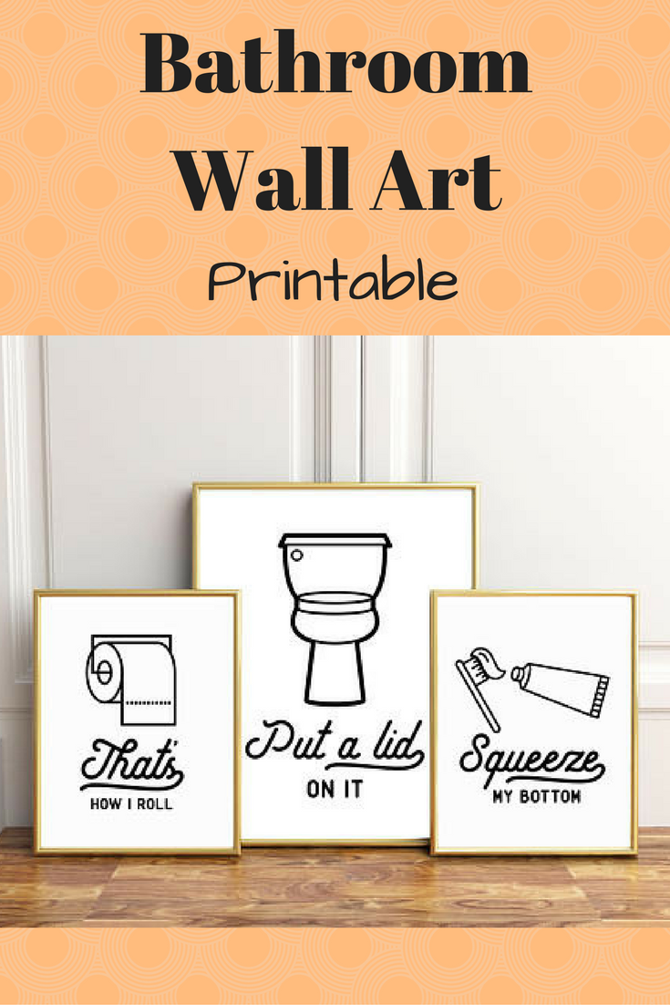 Funny wall art printable for the bathroom ad bathroom wallart
