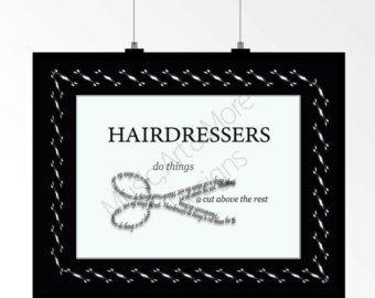 Hairdresser Beautician Cosmotologist Beauty by MusicArtandMore