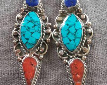 Egipcio tribales collar con lapislázuli y por LuxVivensFashion