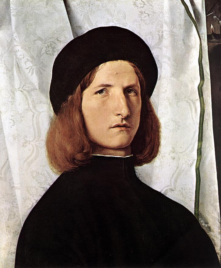 Exposition ArtPortrait of a Man - Lorenzo Lotto - Portrait Painting Art