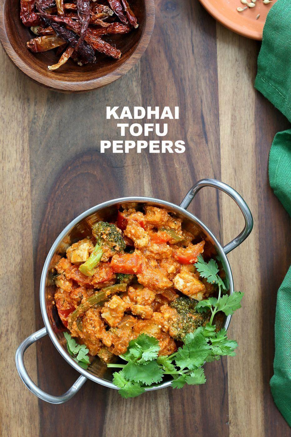 Kadai Paneer Tofu Peppers Recipe Stuffed Peppers Food