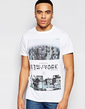 ASOS | ASOS Relaxed T-Shirt With Burnout And LA City Box Print at ASOS