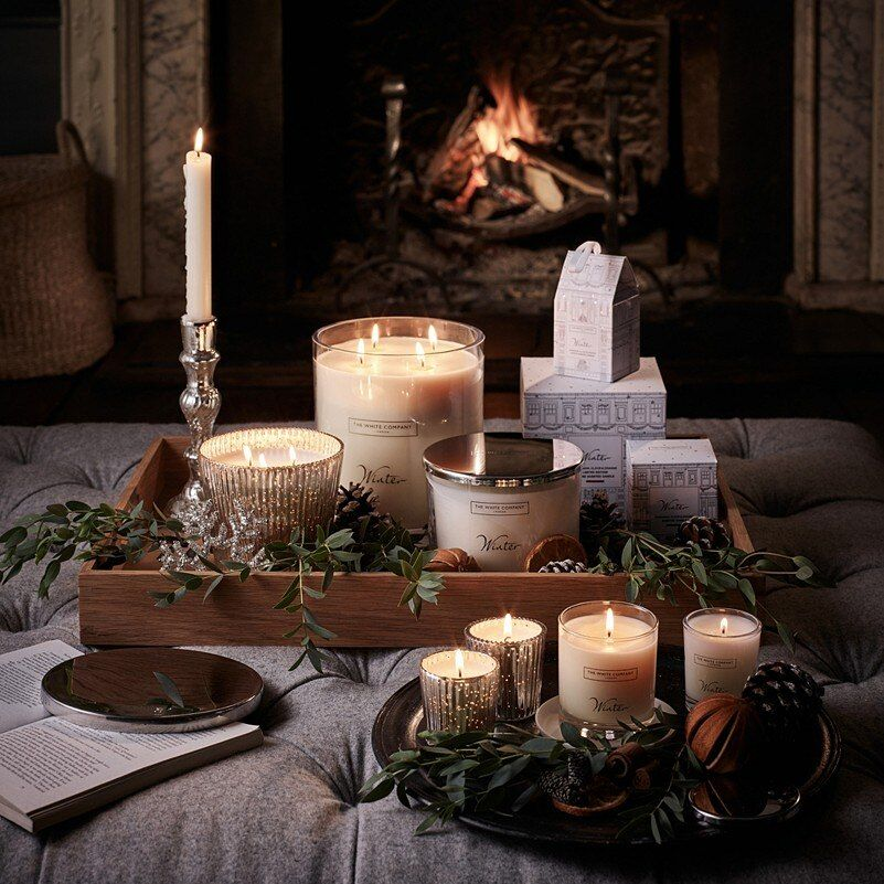 Winter Collection Candles Diffusers The White Company Uk White Company Candles Christmas Interiors Large Candles