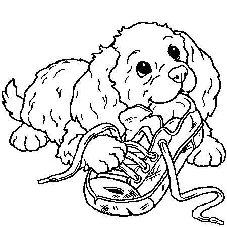 coloriage a imprimer de chien