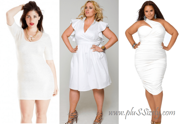 Trend Fashion Plus Size White Club Dresses | Plus Size Nightclub ...