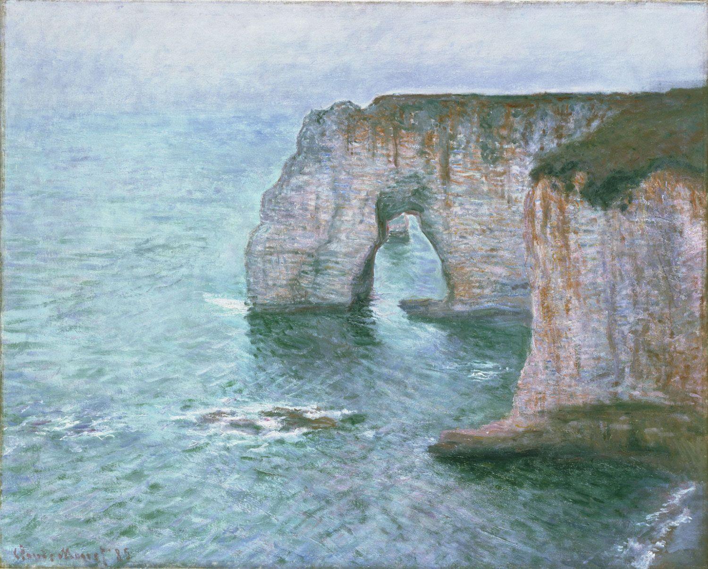 Manne-Porte, Étretat Claude Monet, French, 1840 - 1926 Made in France,  Europe 1885 | Monet oil paintings, Claude monet paintings, Monet art