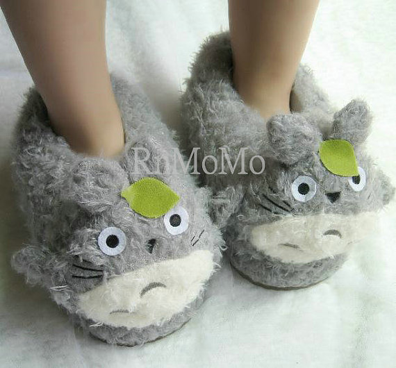 Totoro Slipper Unisex Animal Soft Plush Claws Slippers Warm Shoes ... a6d0d6ff8
