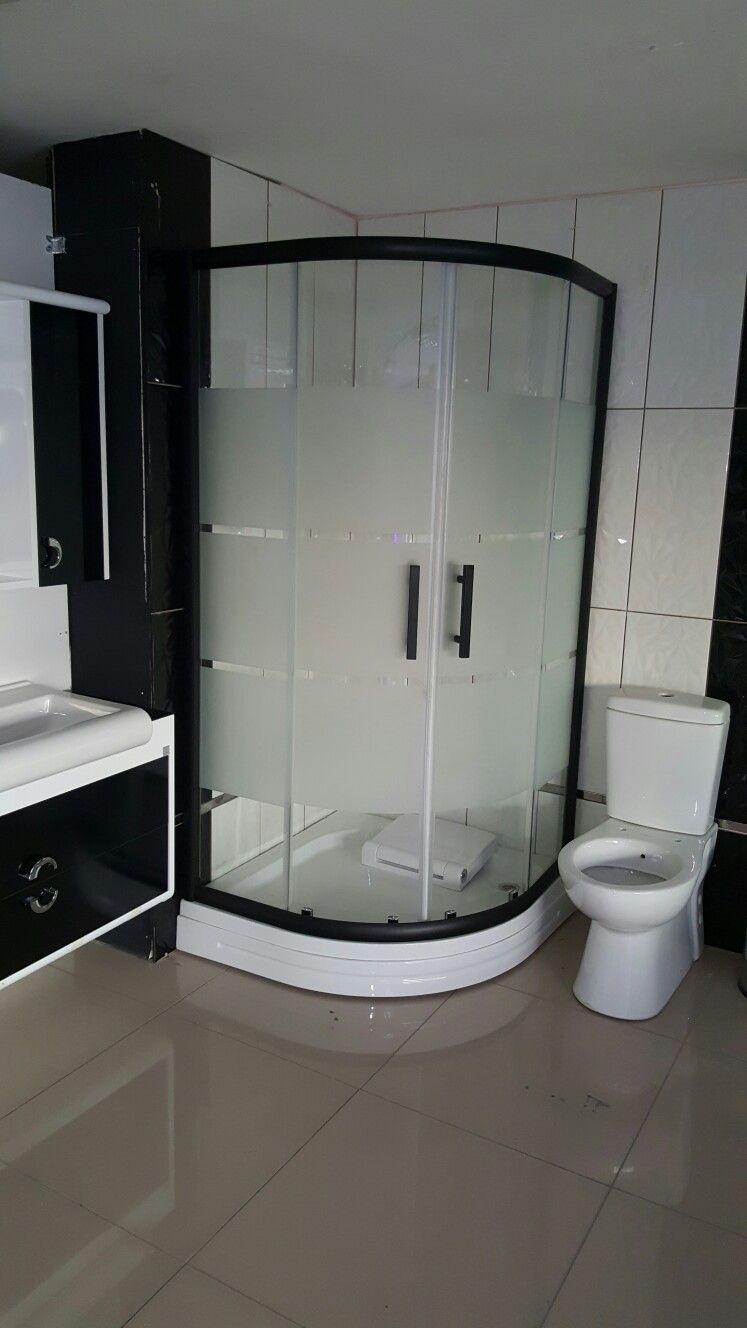 5mm Cam Siyah Profil Duşakabin Duşakabin Banyo Fayansı