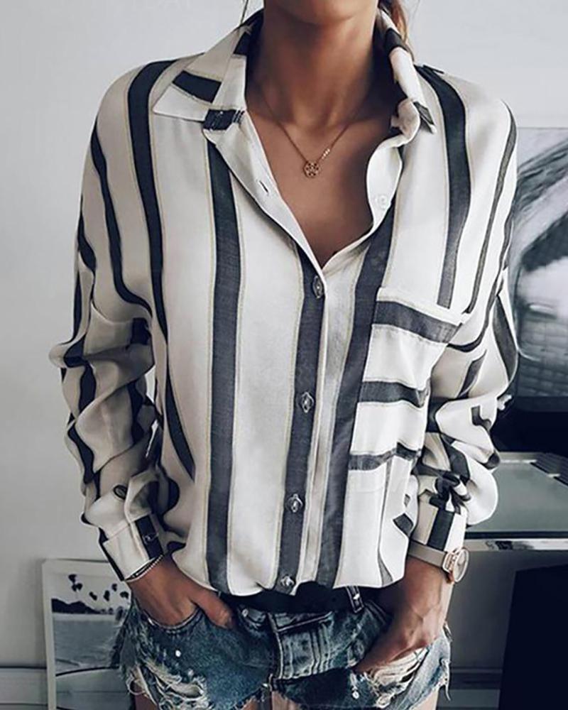 Striped Long Sleeve Casual Shirt Striped Long Sleeve Stripes Fashion Long Sleeve Casual [ 1000 x 800 Pixel ]