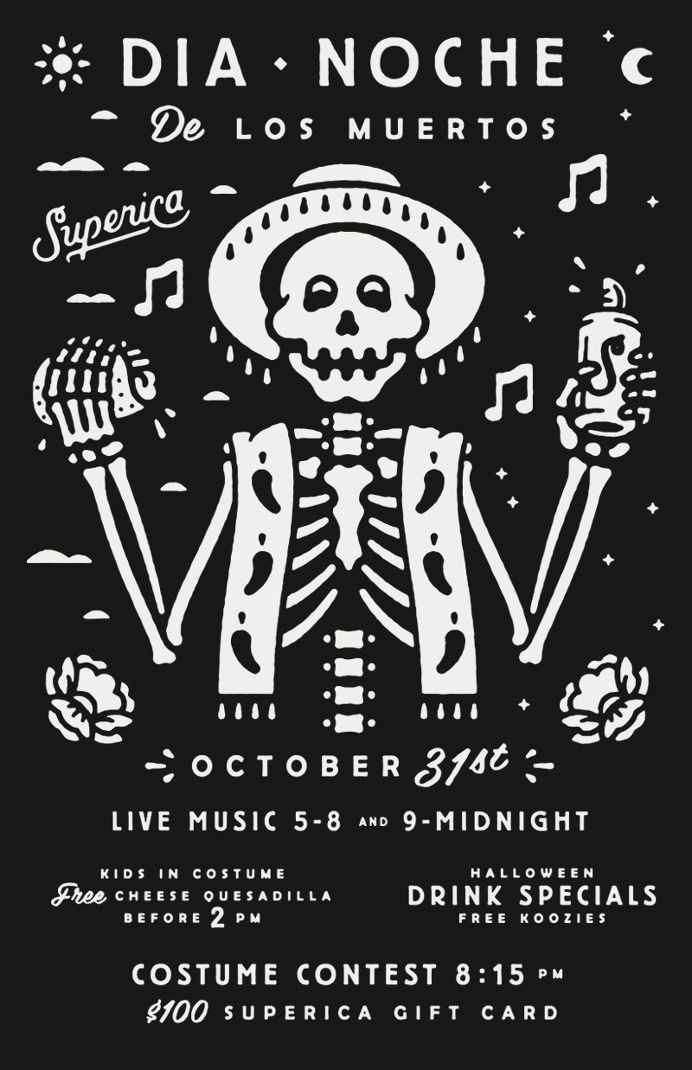 Dia Noche De Los Muertos Design Pinterest Illustrations - halloween poster ideas